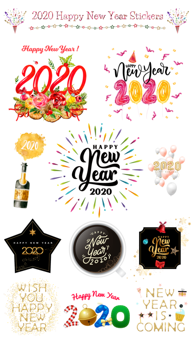 Happy New Year - 2020 Stickers screenshot 1