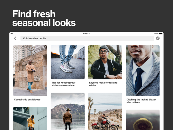 iPad Image of Pinterest
