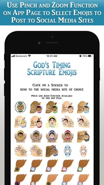 God's Timing Scripture Emojis screenshot-5