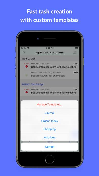 beorg: To-Do List & Agenda screenshot three