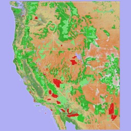 Scenic Map Western USA