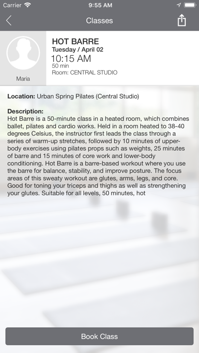 Urban Spring Pilates screenshot four