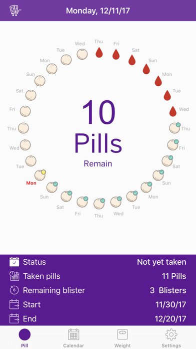 Screenshot for BC Pill Reminder in Greece App Store