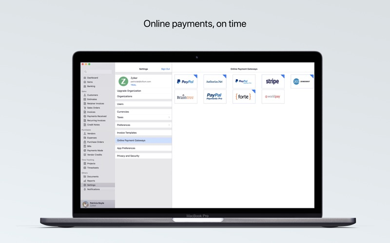 Accounting App - Zoho Books for Mac