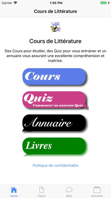 Cours de Littérature screenshot 1
