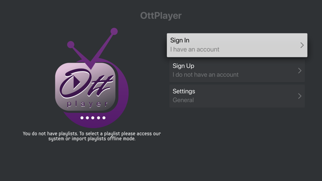 ‎OttPlayer.es Screenshot