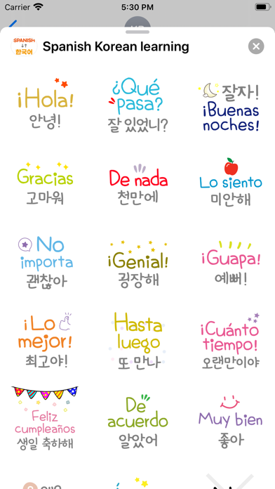 Spanish Korean learning screenshot 3
