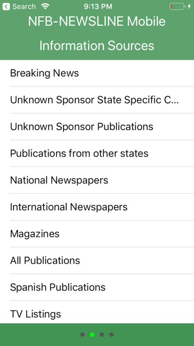 NFB-NEWSLINE® Mobile iPhone