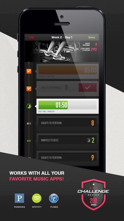 0-200 Squats Trainer Challenge screenshot-3