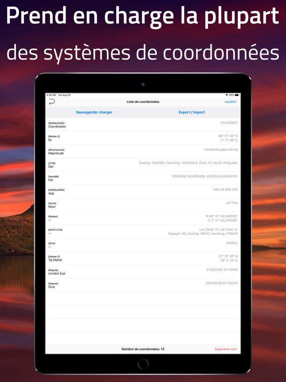 Screenshot #5 pour Coordinates - Formateur GPS
