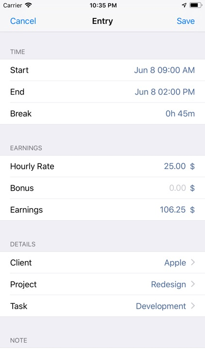 atWork Timesheet, Time Tracker screenshot-7