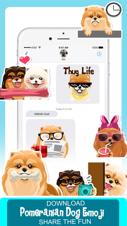 Pomeranian Dog Emoji Stickers screenshot-4