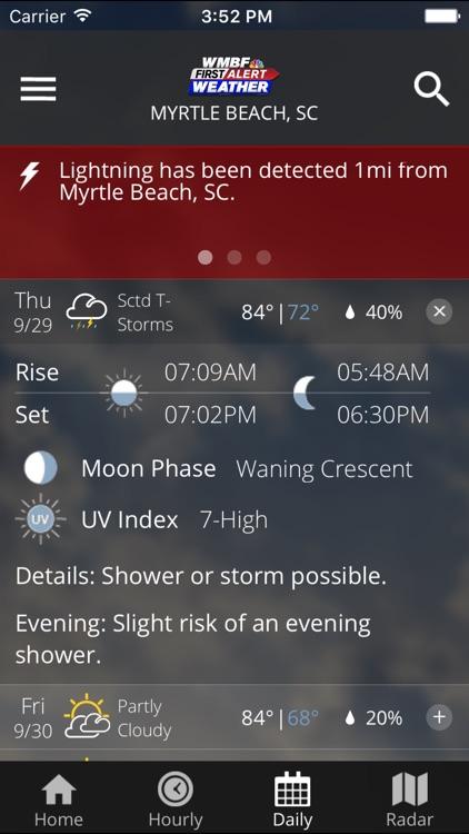 WMBF First Alert Weather screenshot-3
