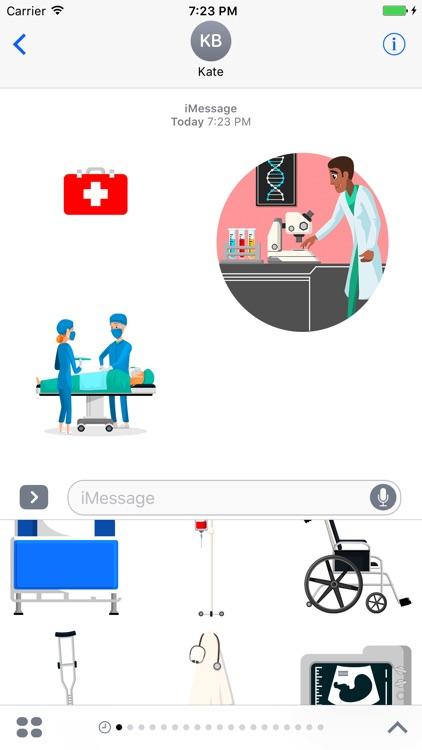 Medical Emoji and Sticker screenshot-3