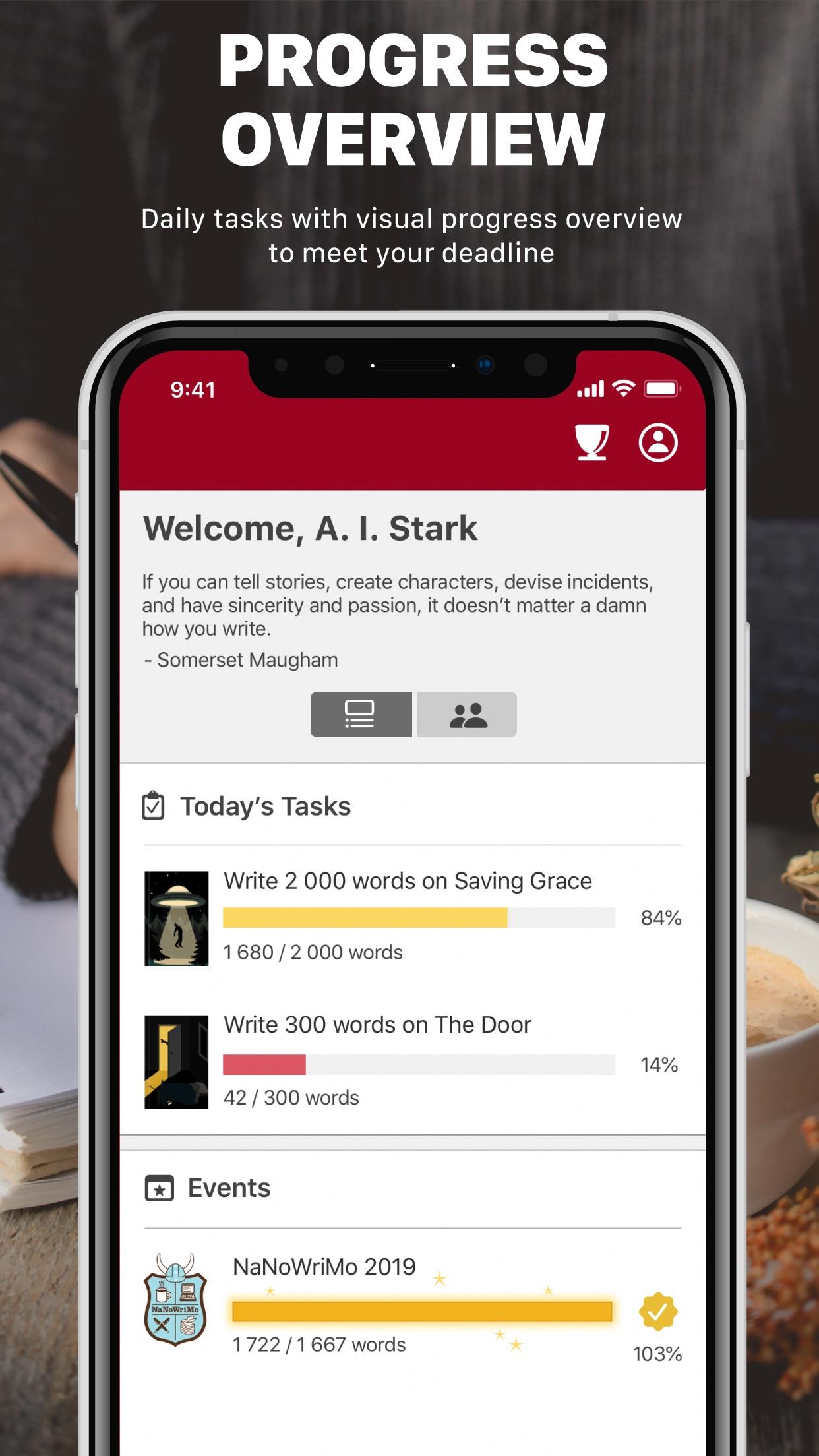 Screenshot do app Word Keeper - Writing Tracker
