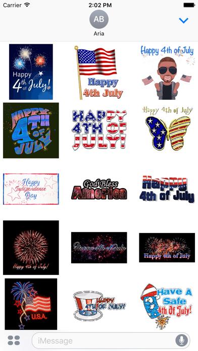Happy Independence Day Sticker screenshot 2