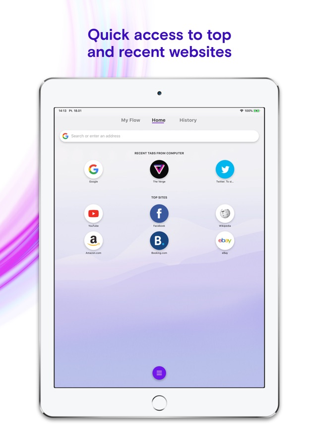 Opera Touch web browser on the App Store