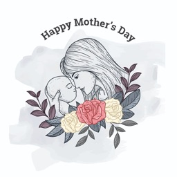 Hugs Mother's Day Stickers