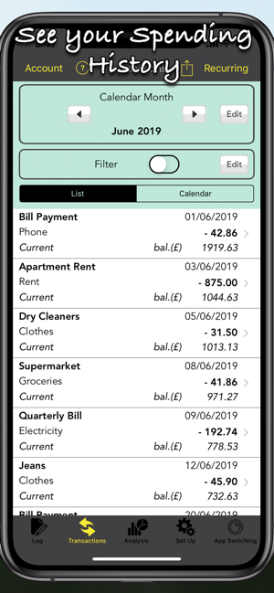 ‎Spending Log Pro Screenshot