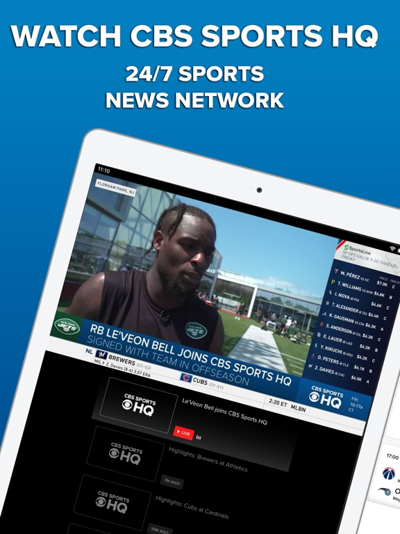 iPad Image of CBS Sports App Scores & News