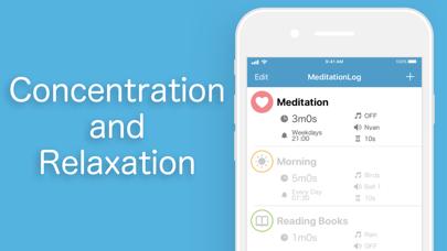 Meditation Log screenshot two