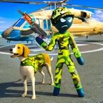 Stickman Army Dog Chase