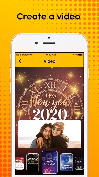 New Year 2020 : Video Maker screenshot-4