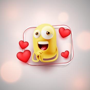 Emojis Animated Stickers Love Logo