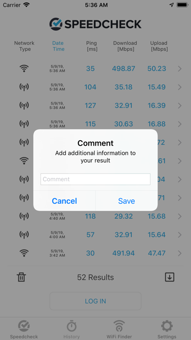 Internet Speed Test Speedcheck iPhone app afbeelding 4