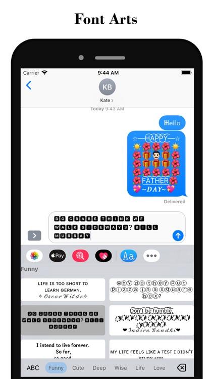 Fonts - Font & Emoji Keyboard screenshot-4