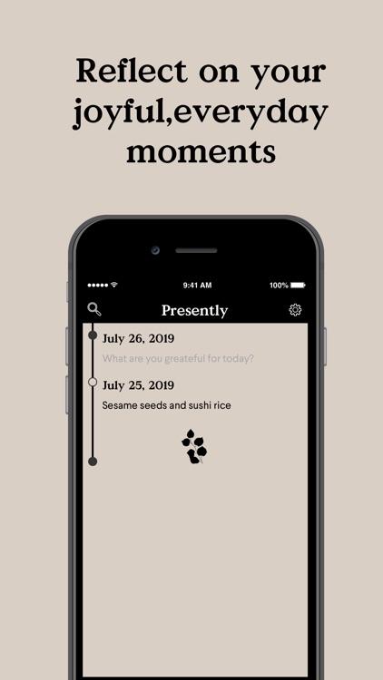 Presently: A Gratitude Journal screenshot-3