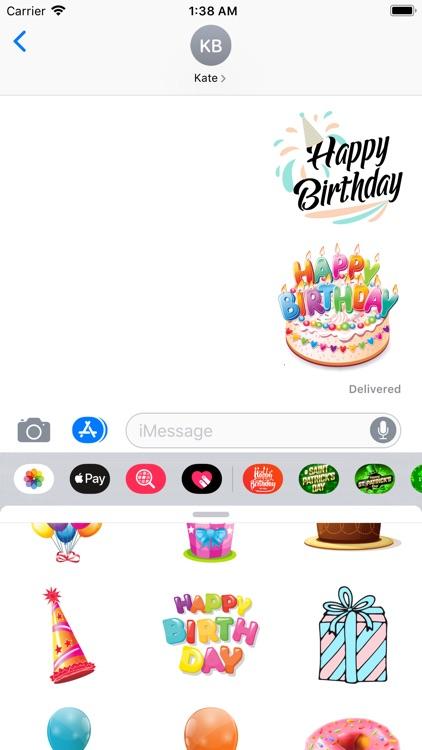 200+ Birthday MEGA Sticker App screenshot-9