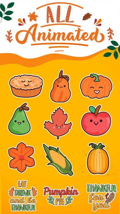 Thanksgiving Day Stickers *