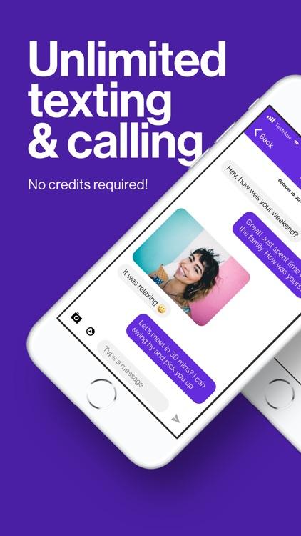 TextNow: Call + Text Unlimited screenshot-0