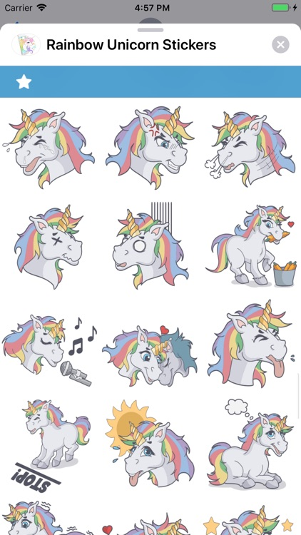 Rainbow Unicorn Stickers screenshot-7