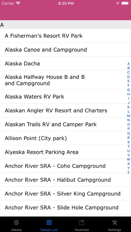Alaska – Campgrounds, RV Parks