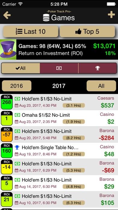 Poker Track Pro – Game Tracker Screenshots