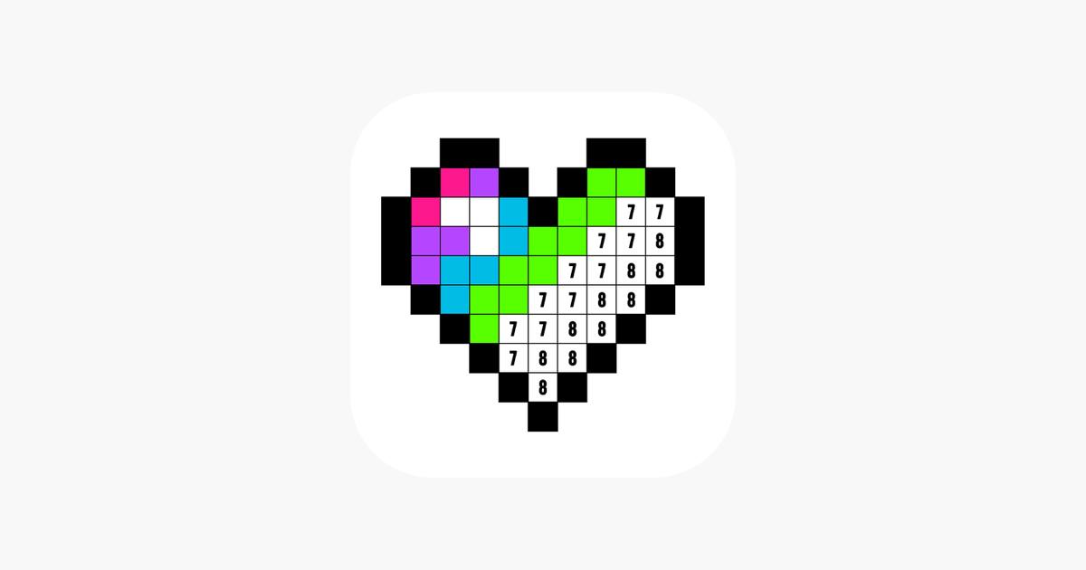 Sayılarla Boya Boyama Kitabı App Storeda