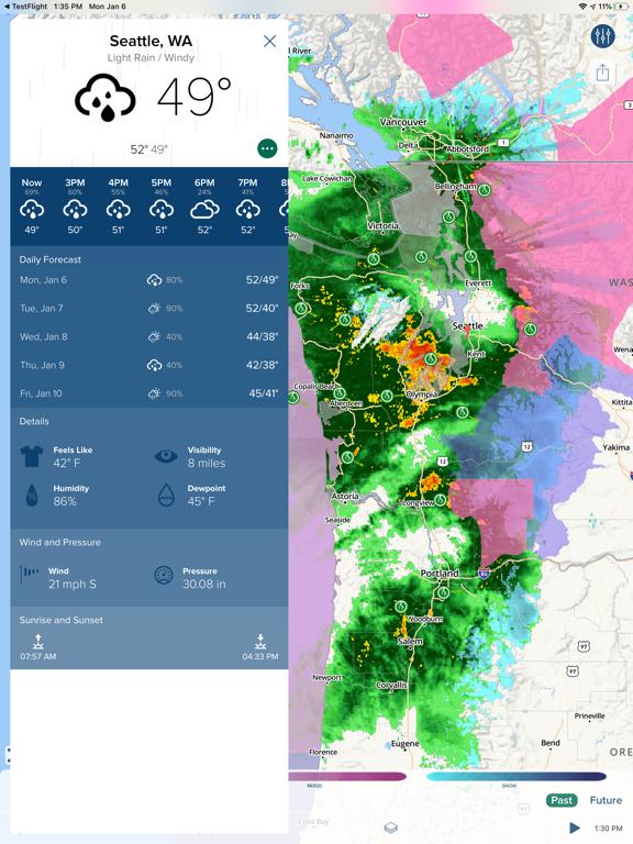 NOAA Hi-Def Radar Pro -  Storm Warnings, Hurricane Tracker & Weather Forecast screenshot