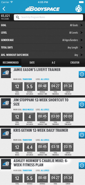 ‎BodySpace - Social Fitness App Screenshot