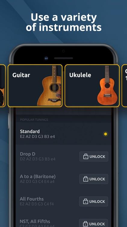 Guitar Tuner - Ukulele & Bass screenshot-4