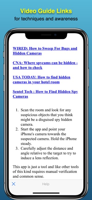 ‎Spy hidden camera Detector Screenshot