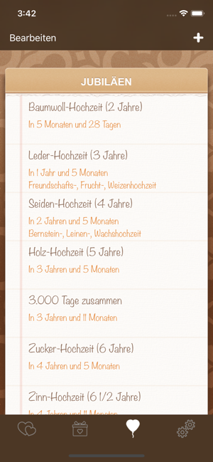 ‎Liebeskalender Screenshot