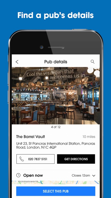 Screenshot for Wetherspoon in Canada App Store