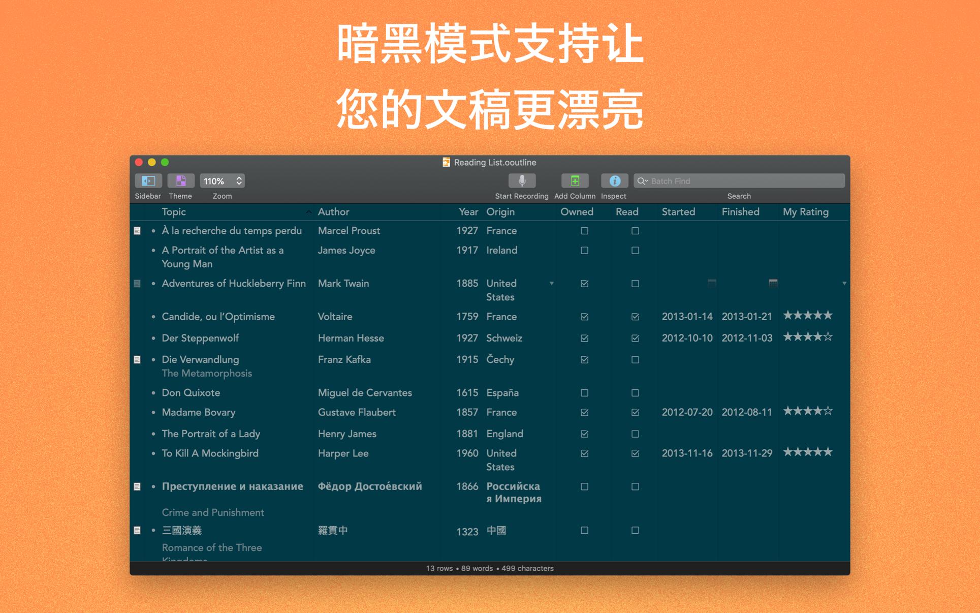 OmniOutliner Pro Mac 破解版 强大的信息大纲记录工具-麦氪派
