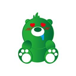 Beautiful green bear