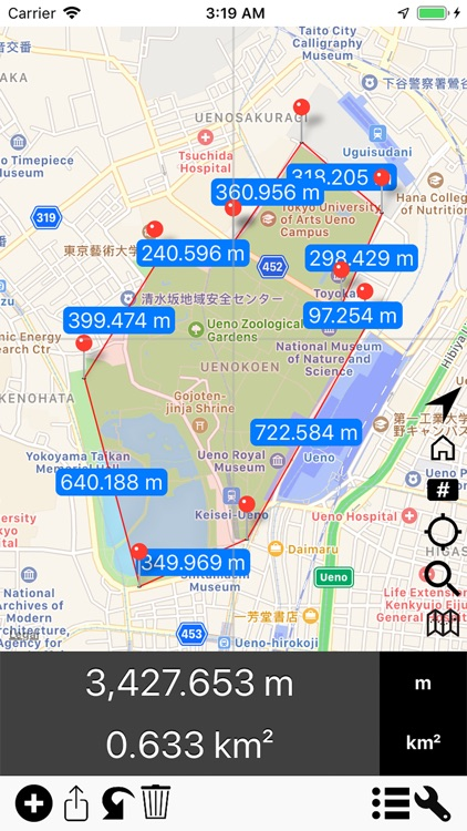 Area & Distance - Map Measure screenshot-3