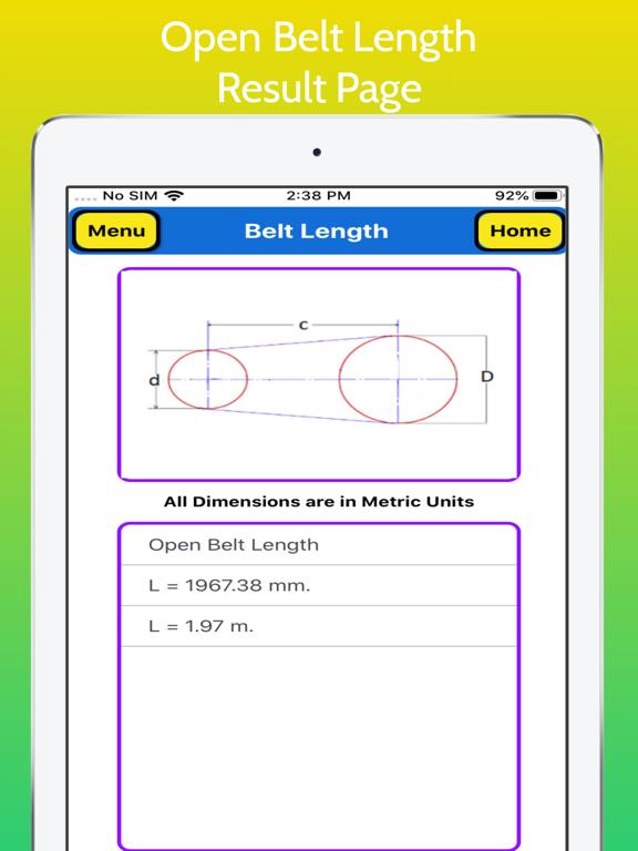 Belt Length Calculator Pro screenshot 13
