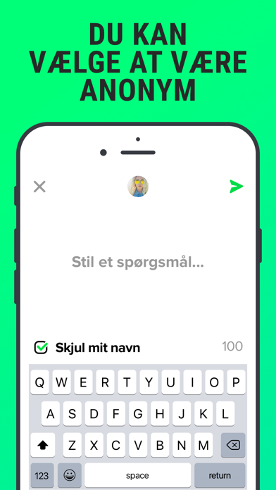 Screenshot for F3 - Stil anonyme spørgsmål in Denmark App Store