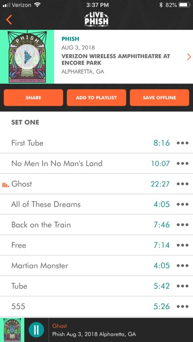 LivePhish Screenshot